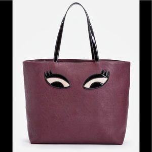 🆕 Burgundy/Purple   'Giving Me Eyes' Tote 👜
